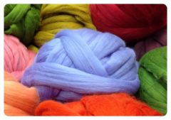 Wool dyed